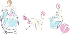 2004orange雜誌_塑身澡插畫1